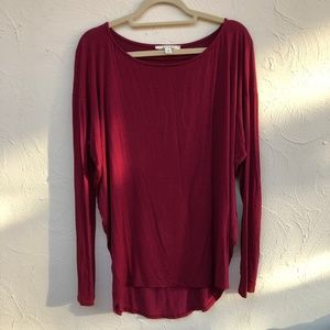 Miami Red Long Sleeve Top